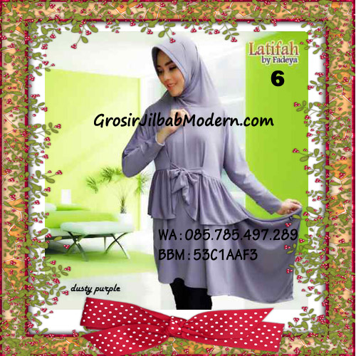 Jilbab Syar'i Lengan Modis Latifah Original By Fadeya Brand No 1 Dusty Purple