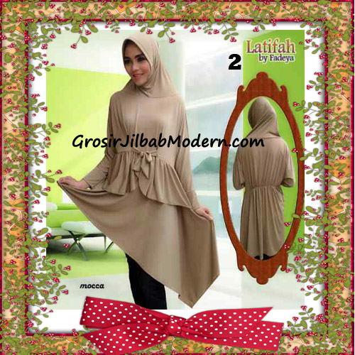 Jilbab Syar'i Lengan Modis Latifah Original By Fadeya Brand No 2 - Mocca