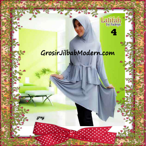 Jilbab Syar'i Lengan Modis Latifah Original By Fadeya Brand No 4 - Grey