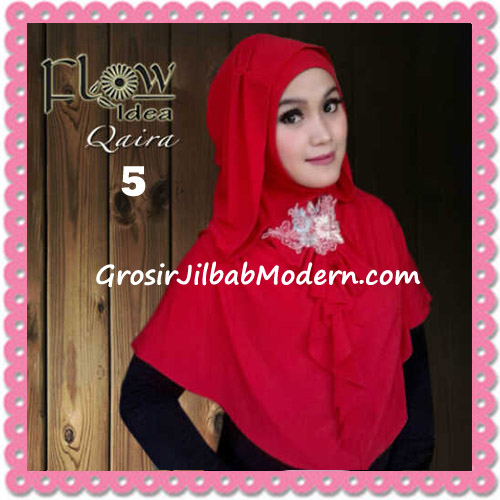Jilbab Syria Instant Kapucong Qaira Original By Flow Idea No 5 Merah