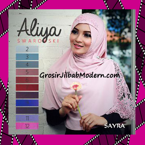 Jilbab Syria Modis Aliya Swarovski Santun By Sayra