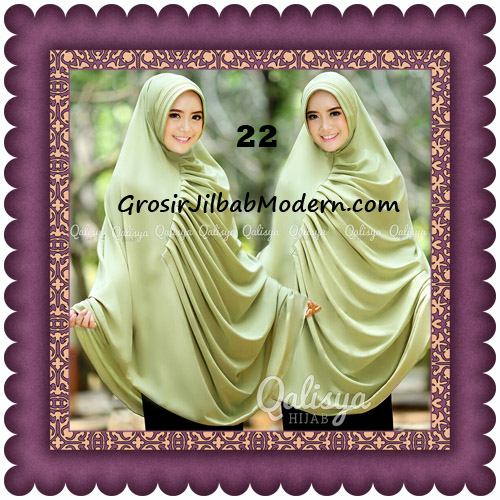 Hijab Cerutti Khimar Rafa Original by Qalisya No 22 Green Lime