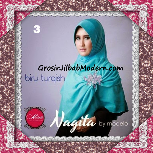 Hijab Instant Modis Trendy Nagita Seri 4 Original by Modelo No 3 Biru Turqish