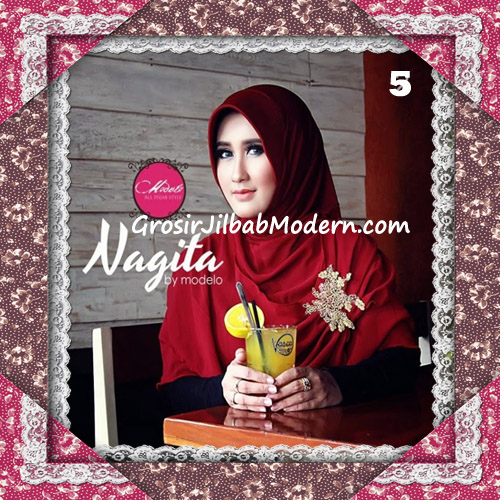 Hijab Instant Modis Trendy Nagita Seri 4 Original by Modelo No 5 Marun