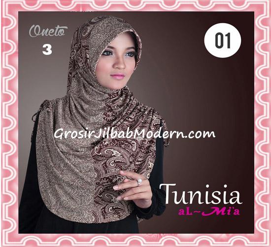 Jilbab Bergo Instant Kerut Tunisia Seri 01 Original By AlMia No 3