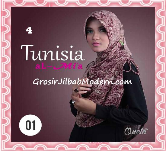 Jilbab Bergo Instant Kerut Tunisia Seri 01 Original By AlMia No 4