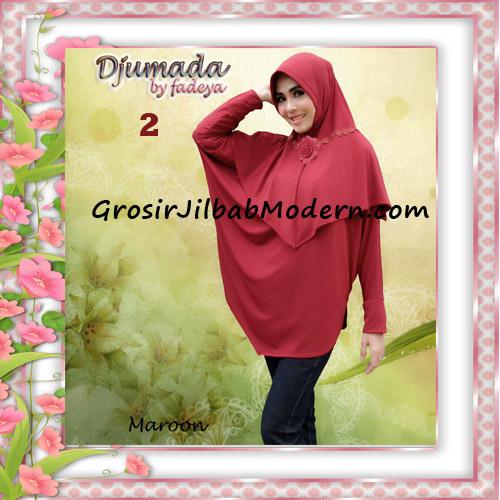 Jilbab Blus Lengan Cantik Bergo Djumada Original By Fadeya No 2 Maroon