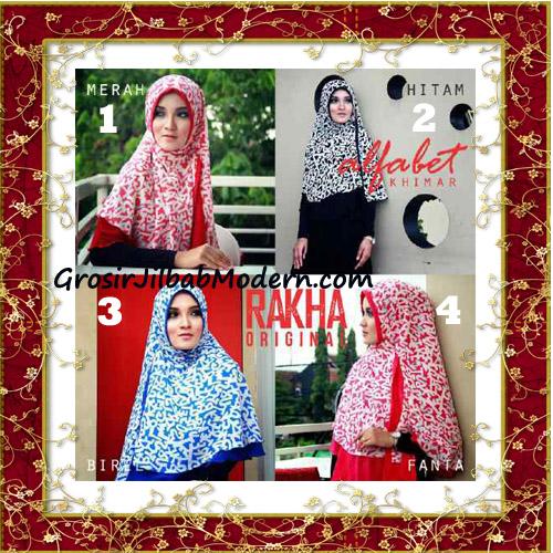 Jilbab Cerutti Jumbo Trendy Khimar Alfabet Original by Rakha Brand Series