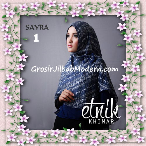 Jilbab Cerutti Nyentrik Khimar Etnik Original by Sayra No 1