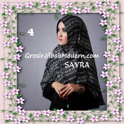 Jilbab Cerutti Nyentrik Khimar Etnik Original by Sayra No 4