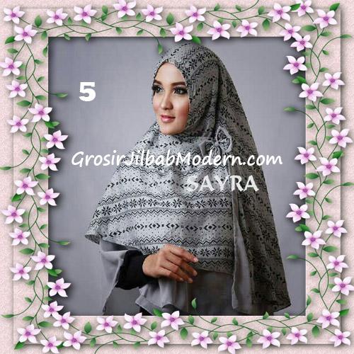 Jilbab Cerutti Nyentrik Khimar Etnik Original by Sayra No 5
