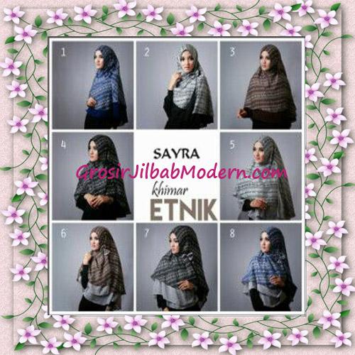 Jilbab Cerutti Nyentrik Khimar Etnik Original by Sayra Series