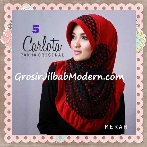 Jilbab Harian Cantik Modis Carlota Original By Rakha Brand No 5 Merah