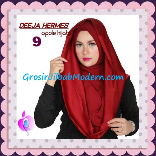 Jilbab Hoodie Instant Trendy Deeja Hermes Original By Apple Hijab Brand No 9 Maroon