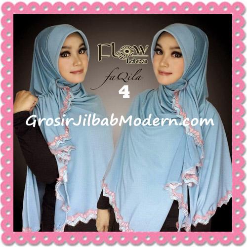 Jilbab Instan Bergo Cantik Syria Faqila Original By Flow Idea No 4 Blue
