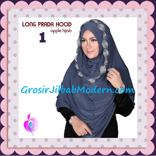 Jilbab Instant Long Prada Hoodie Modis Original By Apple Hijab Brand No 1 Dark Grey