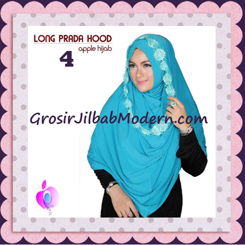 Jilbab Instant Long Prada Hoodie Modis Original By Apple Hijab Brand No 4 Blue