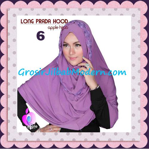 Jilbab Instant Long Prada Hoodie Modis Original By Apple Hijab Brand No 6 Purple