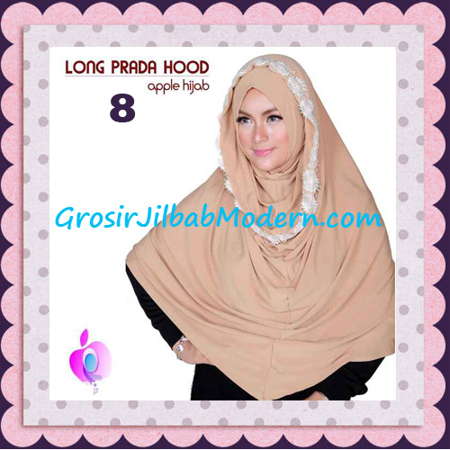 Jilbab Instant Long Prada Hoodie Modis Original By Apple Hijab Brand No 8 Khaki