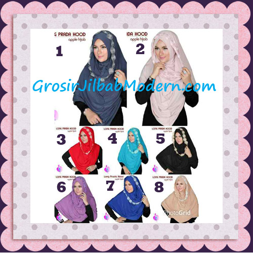 Jilbab Instant Long Prada Hoodie Modis Original By Apple Hijab Brand Series