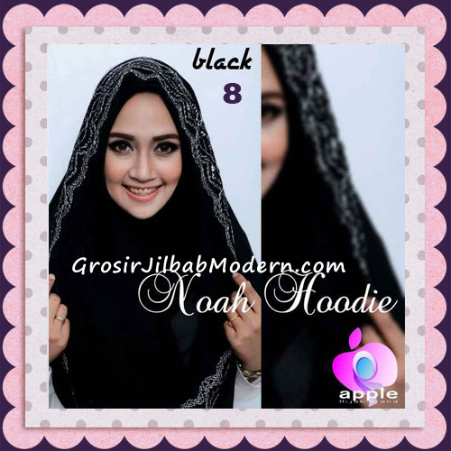 Jilbab Instant Modern Modis Noah Hoodie Original By Apple Hijab Brand No 8 Black