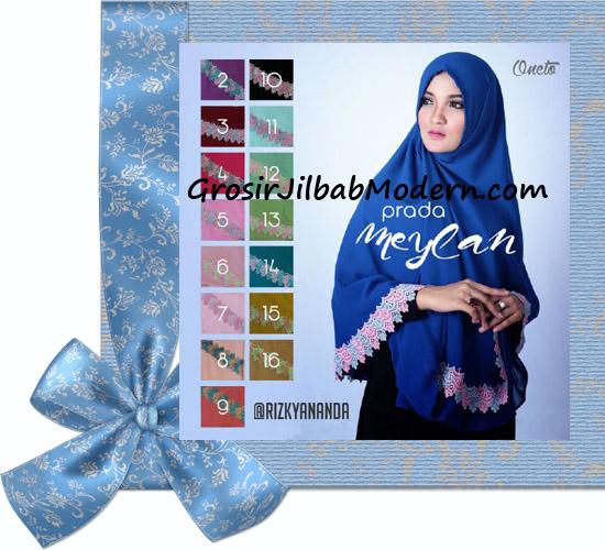 Jilbab Khimar Syar'i Cantik Prada Meylan Original by Rizky Ananda Series
