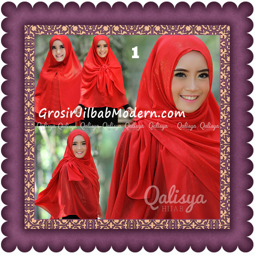 Jilbab Khimar Syar'i Trendy Halwa Non Pet XL Original by Qalisya No 1