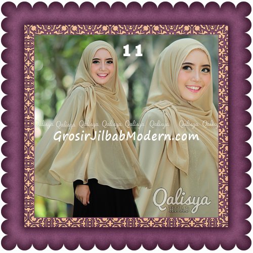 Jilbab Khimar Syar'i Trendy Halwa Non Pet XL Original by Qalisya No 11