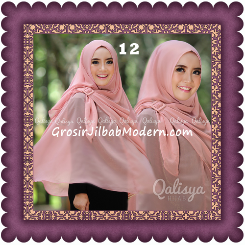Jilbab Khimar Syar'i Trendy Halwa Non Pet XL Original by Qalisya No 12