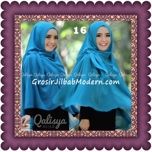 Jilbab Khimar Syar'i Trendy Halwa Non Pet XL Original by Qalisya No 16