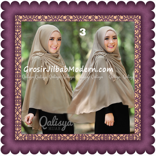 Jilbab Khimar Syar'i Trendy Halwa Non Pet XL Original by Qalisya No 3