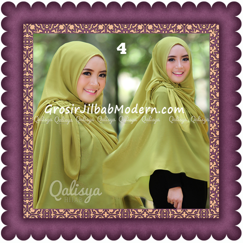 Jilbab Khimar Syar'i Trendy Halwa Non Pet XL Original by Qalisya No 4