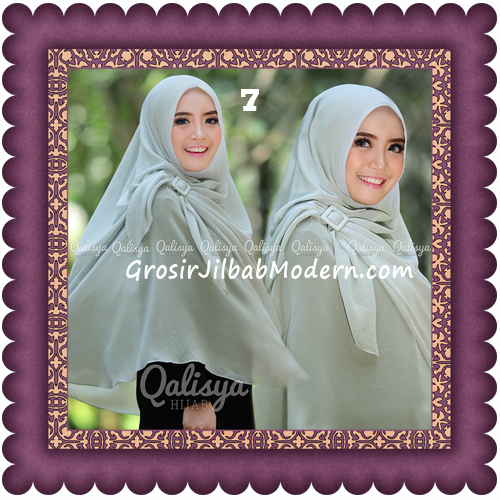 Jilbab Khimar Syar'i Trendy Halwa Non Pet XL Original by Qalisya No 7