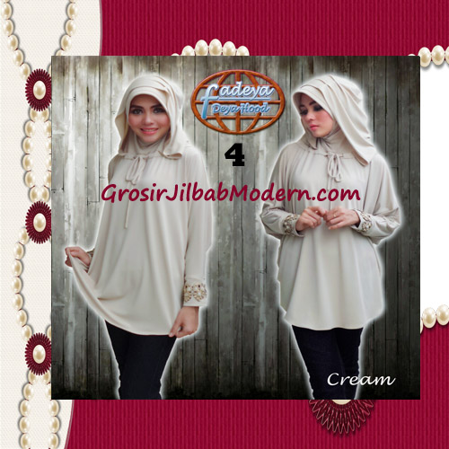 Jilbab Lengan Exclusive Deya Hood Cantik Original by Fadeya No 4 Cream