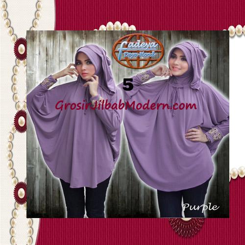 Jilbab Lengan Exclusive Deya Hood Cantik Original by Fadeya No 5 Purple