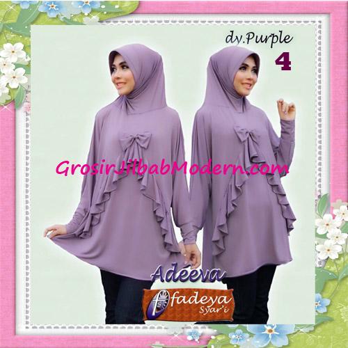 Jilbab Lengan Polos Bergo Adeva Original By Fadeya No 4 Dusty Purple