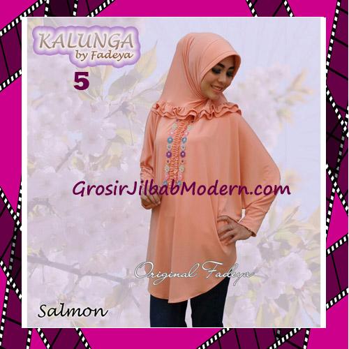 Jilbab Lengan Simple Trendy Kalunga Original by Fadeya No 5 Salmon