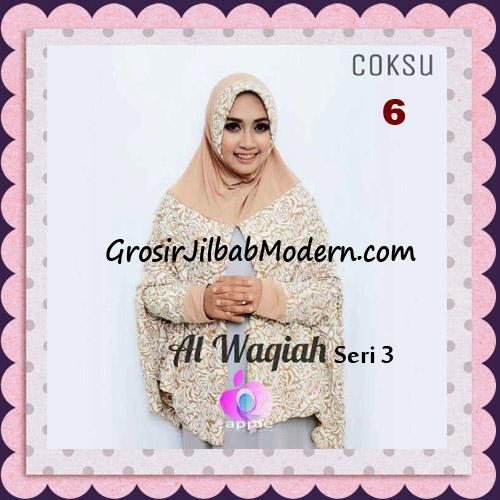 Jilbab Tangan Syar'i Al Waqiah Seri 3 Original by Apple Hijab Brand No 6