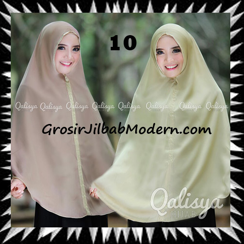 Jilbab Basic Khimar Bolak Balik Cantik Original By Qalisya No 10