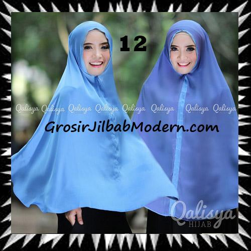 Jilbab Basic Khimar Bolak Balik Cantik Original By Qalisya No 12