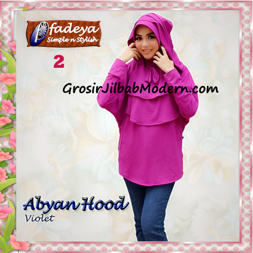 Jilbab Bergo Lengan Modis Abyan Hoodie Original by Fadeya No 2 Violet