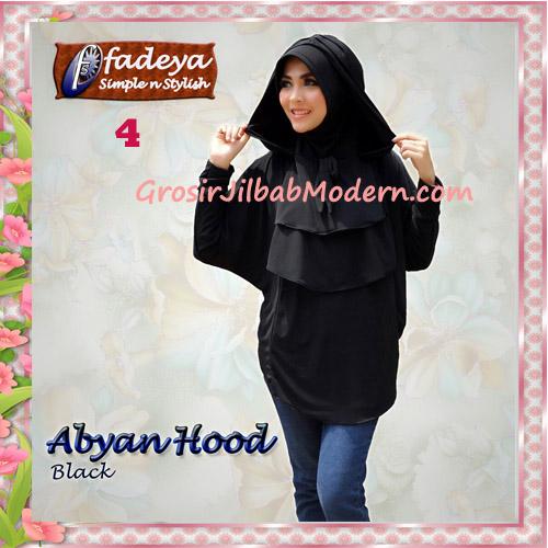 Jilbab Bergo Lengan Modis Abyan Hoodie Original by Fadeya No 4 Black