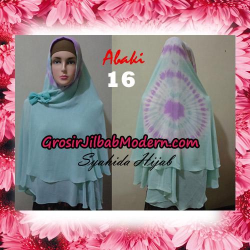 Jilbab Cerutti Tiedye Jumbo Terbaru Khimar Abaky Original By Syahida Brand No 16