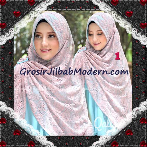 Jilbab Khimar Syar'i Cantik Halwa Brukat Seri 3 Original By Qalisya Brand No 1