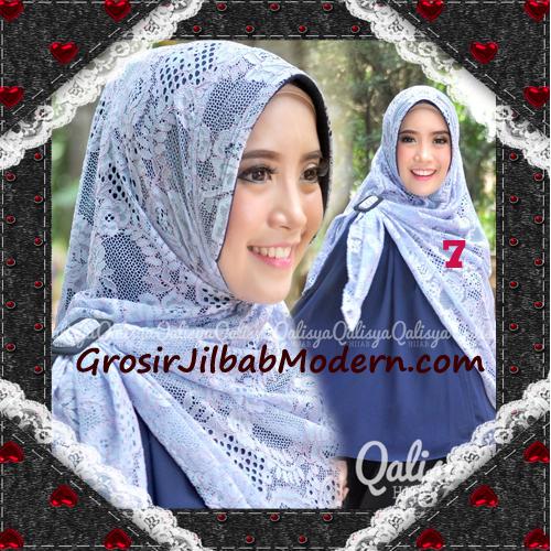Jilbab Khimar Syar'i Cantik Halwa Brukat Seri 3 Original By Qalisya Brand No 7