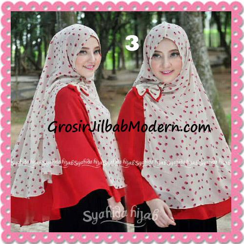 Jilbab Kombinasi Polos dan Flower Khimar Michan Non Pet Seri 2 Original by Syahida No 3