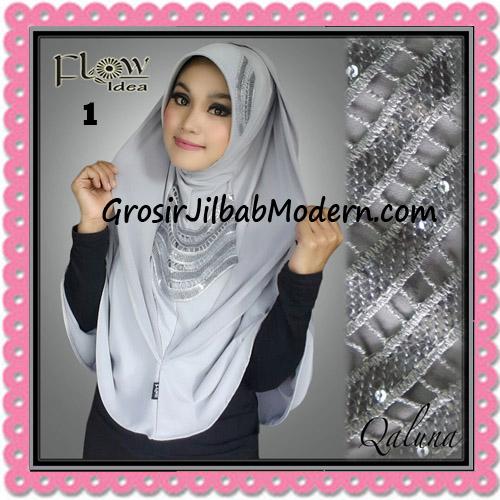Jilbab Langsung Pakai Syria Bergo Pet Qaluna Original By Flow Idea No 1 Abu