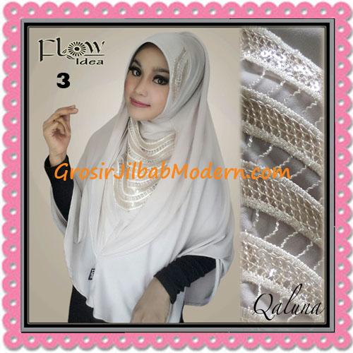 Jilbab Langsung Pakai Syria Bergo Pet Qaluna Original By Flow Idea No 3 Cream