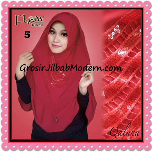 Jilbab Langsung Pakai Syria Bergo Pet Qaluna Original By Flow Idea No 5 Merah