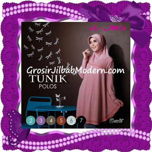Jilbab Lengan Modis Tunik Polos Original Al-Mi'a Brand Series